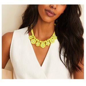 Ann Taylor | resin flower statement necklace